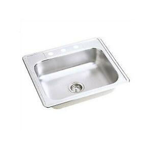 Top mount Stainless Steel Sink - 9 deep 25 x 22 x 9