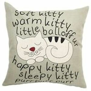 "Big Bang Theory-Sheldon's Song-  ""Soft Kitty..."" Pillow Cover Sarnia Sarnia Area image 1"