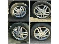 15 INCH FORD ALLOYS £60 GOOD TYRES