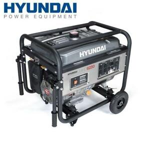 NEW HYUNDAI PORTABLE GENERATOR - 129182385 - 6250 Watt 4-Stroke Portable Heavy Duty Generator