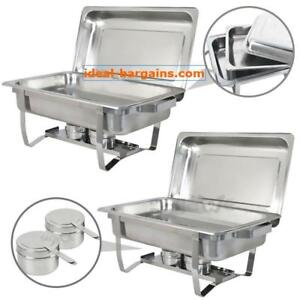 2 PACK CATERING STAINLESS STEEL CHAFER CHAFING DISH - FREE SHIPPING