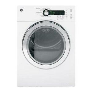 GE PCVH480EKWW 4.0 cu. ft. Electric Dryer with Stainless Steel Drum in White