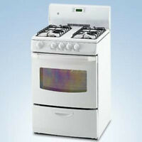 """24"""".stove white 3.0 cu. ft. Gas Range with warranty-$599.99  -"""