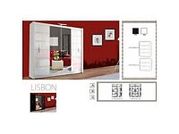 "♦♦""EXCLUSIVE OFFER ON NEW CENTER MIRROR LISBON WARDROBE""♦♦Available With -Diff Colors..♦♦"