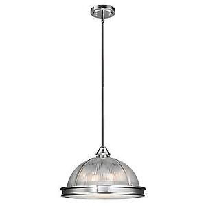 Globe Electric Tarley 3-Light Brushed Steel Detail Hanging Penda