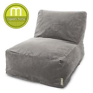 NEW MAJESTIC BEAN BAG CHAIR LOUNGER 85907260325 141596686 VILLA VINTAGE GREY