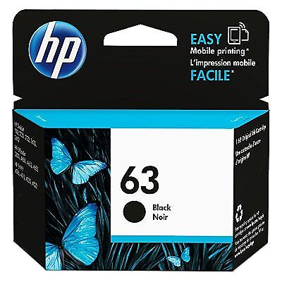 HP 63 Black Original Ink Cartridge - Free Next Business Day Delivery - Hp 63 Black Ink Cartridge