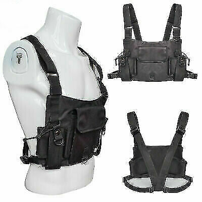 Universal Radio Chest Harness Chest Talkie Unisex Pouch Holster Vest Rig Oxford