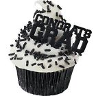Graduation Cupcake Picks Cake Toppers