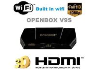 ✮INCLUDES BUILT IN WIFI ✮LATEST 2017 OPENBOX V9S NEW MODEL DVB -12 MONTHS ALL CHANNELS -ONLY £80-