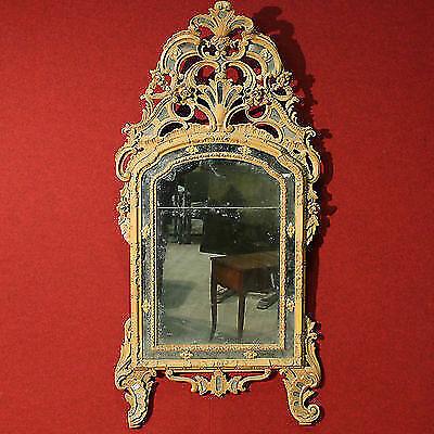 Specchiera specchio antico cornice in legno dipinto mobile epoca 800 XIX