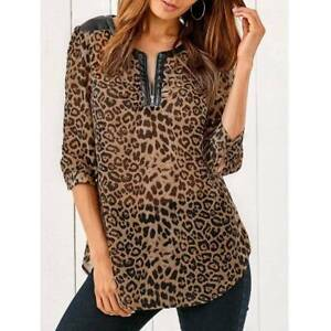 PU Patchwork Leopard Blouse - XL LEOPARD Ultimo Inner Sydney Preview