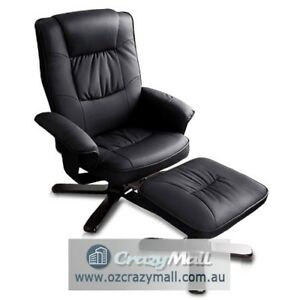 PU PVC Leather Wooden Lounge Recliner Chair Ottoman 4 colors Sydney City Inner Sydney Preview
