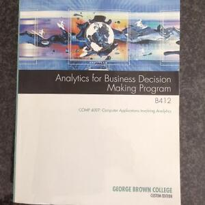 Analytics for Business Decision Making Program