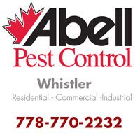 Guaranteed Pest Control Services for Whistler/778-770-2232