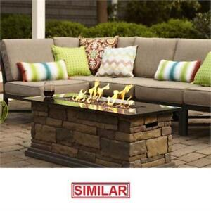 NEW HAMPTON BAY OUTDOOR FIRE TABLE - 130412707 - PATIO GAS FIRE PIT