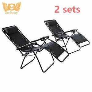 2x Zero gravity outdoor-beach camping portable foldable chairs Campbellfield Hume Area Preview