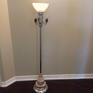Antique Torchiere Floor Lamp