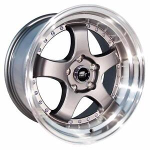 work style 18x9.5 20mm 5x114.3 73.1 Gunmetal w/Machined Lip
