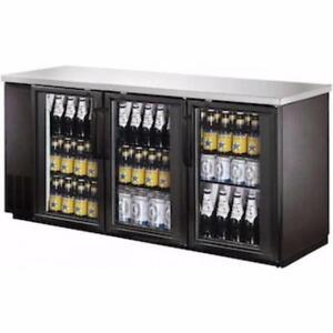 "FRIGO A BIERE NEUF / NEW BACK BAR / BEER FRIDGE  ** 72"" ** Avec Cles et Serrure / With Lock and Key"