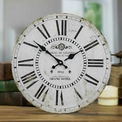 Antique Style Grand Hotel Wall Clock with Roman Numerals Battery Powered 13 Dia