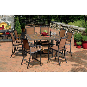 Patio Furniture Table Living Home Outdoors Corsica 9 Piece