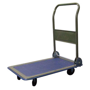 Pop up handle 2x4 foot flatbed cart with 4 inch HD Wheels Mint