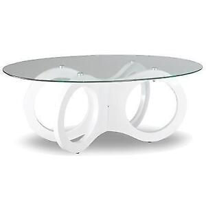 ROUND GLASS COFFEE TABLE SALE (ND 29)