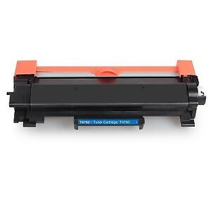 Brother TN760 Black Toner Cartridge, Compatible High Yield