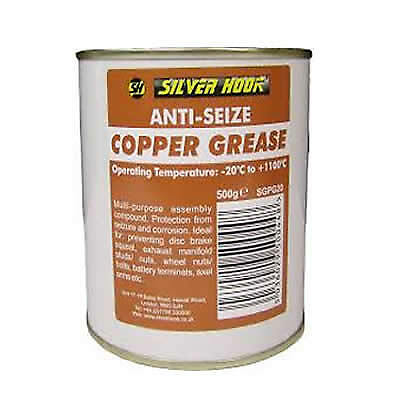 COPPER ANTI SEIZE GREASE MULTIPURPOSE ASSEMBLY COMPOUND SLIP 500g