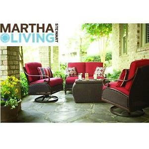 NEW MARTHA STEWART 4PC SEATING SET - 130035303 - 4 PIECE CEDAR ISLAND