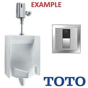 NEW TOTO URINAL SS FLUSHOMETER - 113790147 - STAINLESS STEEL TOILET BATHROOM FLUSH VALVE ONLY