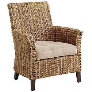 Pier One Sonita Wicker Armchair w/ Cushion *NEW*