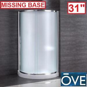 "NEW*OVE DECORS 31"" CORNER ENCLOSURE - 128942221 - 31"" x 31"" x 76"" SHOWER KIT INTIMACY GLASS, BASE PAN SURROUND WALLS ..."