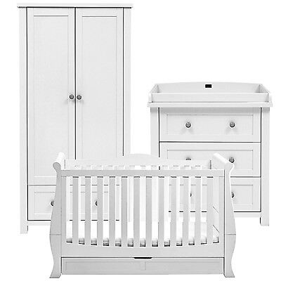 The White Company Silver Cross Nostalgia 3 Piece Nursery Furniture Set With Sleigh Cot