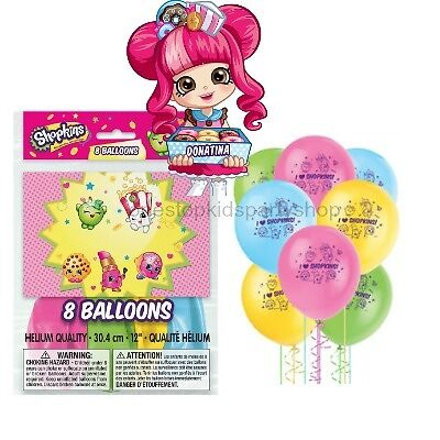 8 helium quality Shopkins party balloons