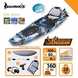 BLACKHAWK Brisbane Shop 3.6m Pelican Pro Fishing Kayak Package Brendale Pine Rivers Area Preview