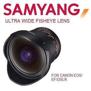 NEW SAMYANG 12MM F2.8 CAMERA LENS SY12M-C 176772954 ULTRA WIDE FISHEYE LENS FOR CANON EOS EF DSLR CAMERAS