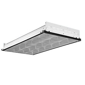 Lithonia Lighting - 3-Light White Fluorescent Parabolic Troffer
