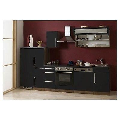 k chenzeile anthrazit ebay. Black Bedroom Furniture Sets. Home Design Ideas