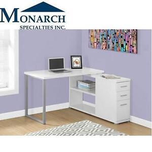 NEW MONARCH CORNER COMPUTER DESK - 110211113 - WHITE - LEFT OR RIGHT FACING