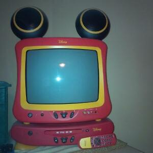 mickey mouse tv and dvd player