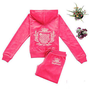"""New Juicy velour tracksuit embroidered Hot pink S-M chest 37"""""""