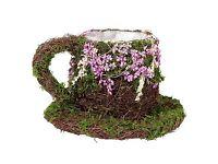 Moss teacup for wedding