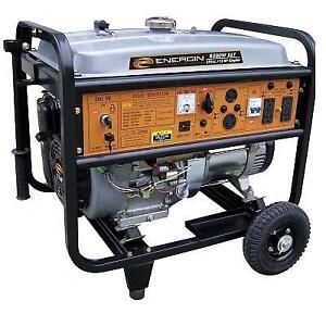 NEW* ENERGIN 8000 WATT GENERATOR 52230 182440797 GAS POWERED WITH ELECTRIC START, XLE ENGINE AND WHEEL KIT
