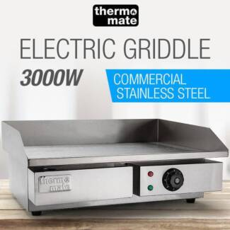 Electric Griddle Grill BBQ Hot Plate Commercial Stainless Steel