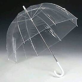 3x large unisex clear dome umbrellas