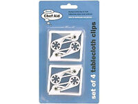 White Table Cloth Clips Set of 4 (Discount pack of 10)