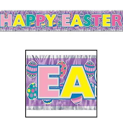 Metallic Happy Easter Fringe - Metallic Fringe Banner