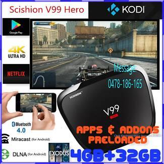 SCISHION V99 Star TV Box 4GB 32GB Kodi Box Android OS Streaming B